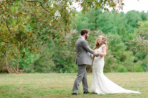 Dusty Blue and Sage Green Barn Wedding in Leesburg VA | 48 Fields Farm