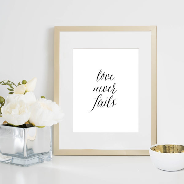 48 Fields Shop | Love Never Fails print
