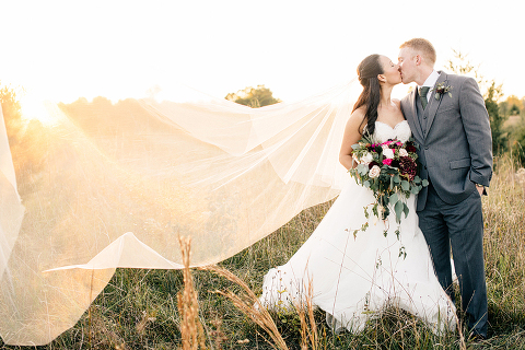 Outdoor Rustic Navy and Burgundy Fall Barn Wedding at 48 Fields Farm in Leesburg VA