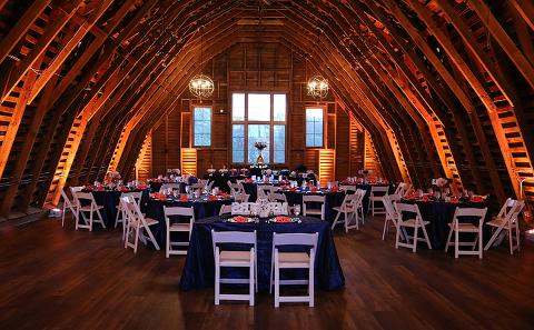 Reception Uplighting at 48 Fields Farm Wedding in Leesburg VA