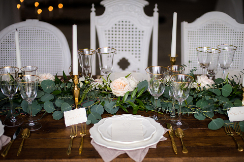 Romantic White and Greenery English Garden Wedding Style Shoot at 48 Fields in Leesburg VA | Kelly Ewell Photography
